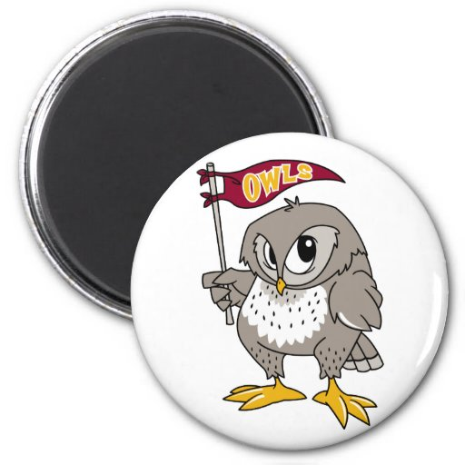 Owl Supporter 2 Inch Round Magnet