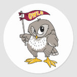 Owl Supporter Classic Round Sticker