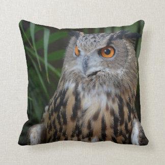 owl surprised right bird pillow