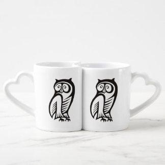 Owl Symbol Black Coffee Mug Set