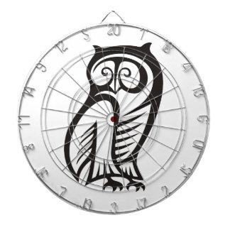 Owl Symbol Black Dart Boards
