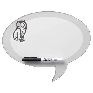 Owl Symbol Black Dry-Erase Board