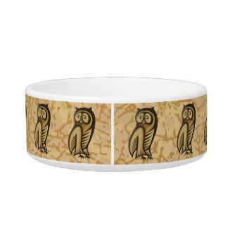 Owl Symbol Color Bowl