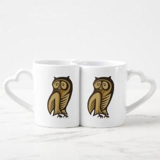 Owl Symbol Color Coffee Mug Set