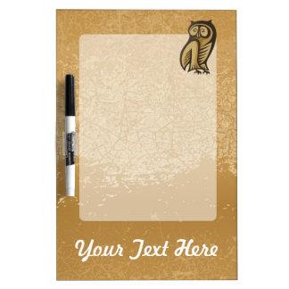 Owl Symbol Color Dry Erase Board