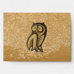 Owl Symbol Color Envelopes