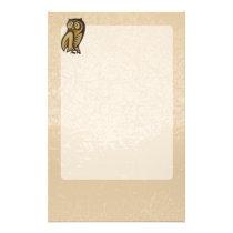 Owl Symbol Color Stationery