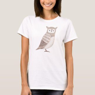 Owl T-shirt Hipster Animal Graphic Tee Horned Owl
