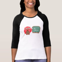 Owl Teacher At Chalkboard Personalized Shirt
