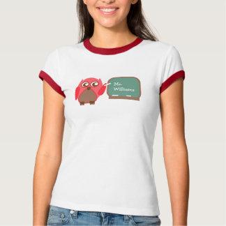 Owl Teacher At Chalkboard Personalized Shirt