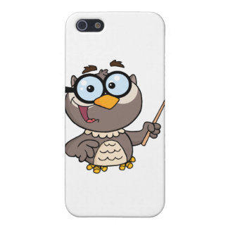 Owl Teacher Cartoon Character With A Pointer Case For iPhone SE/5/5s