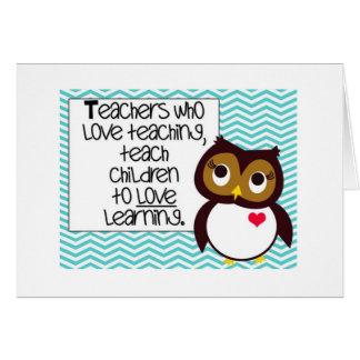 Owl Teacher Greetings Card