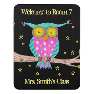 Owl teacher personalized classroom door sign  sc 1 st  Zazzle & Teacher Door Signs | Zazzle