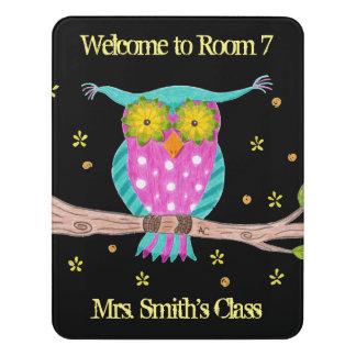 Door signs zazzle owl teacher personalized classroom door sign pronofoot35fo Gallery