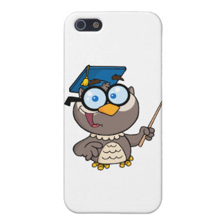 Owl Teacher With Graduate Cap And Pointer Case For iPhone SE/5/5s