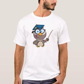 Owl Teacher With Graduate Cap And Pointer T-Shirt
