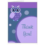 Owl~ Thank You Greeting Cards
