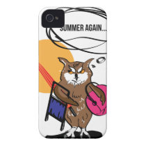 Owl that hates summer T shirt Case-Mate iPhone 4 Case