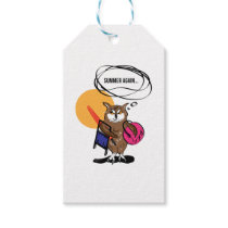 Owl that hates summer T shirt Gift Tags