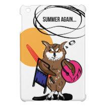 Owl that hates summer T shirt iPad Mini Cover