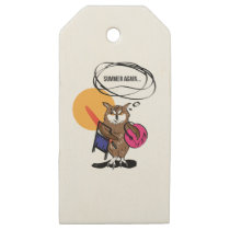 Owl that hates summer T shirt Wooden Gift Tags