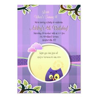 Owl Theme Invitation