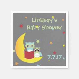 Owl Themed Napkins- Baby Shower Paper Napkin