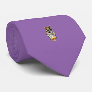 Owl Tie Purple