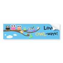 """OWL Together Now"" Bumper Sticker"
