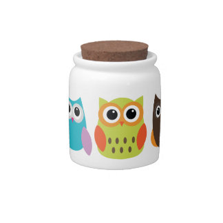 Owl treats Candy Jar