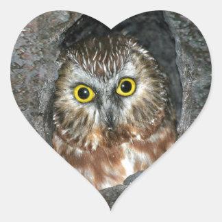 owl tree baby inside heart sticker