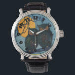 "Owl Tree Night Full Moon Halloween Wrist Watch<br><div class=""desc"">Vintage Halloween print</div>"