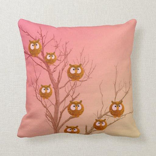 Owl Tree Pillows
