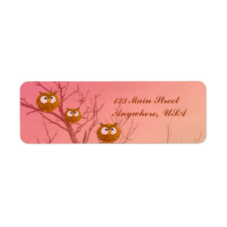 Owl Tree Return Address Labels template