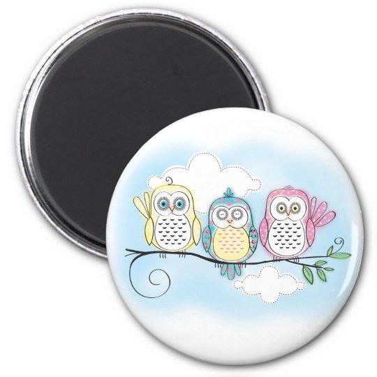 Owl Trio Magnet