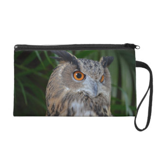 owl turning to the right head view wristlet purse