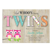 Owl TWINSBaby Shower - Look Whoo's Having a Baby Card