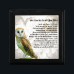 """Owl  - Uncle Poem Keepsake Box<br><div class=""""desc"""">A great gift for an uncle who likes owls</div>"""