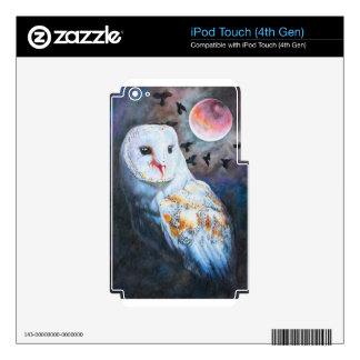 Owl Under Blood Moon iPod Touch 4G Decal