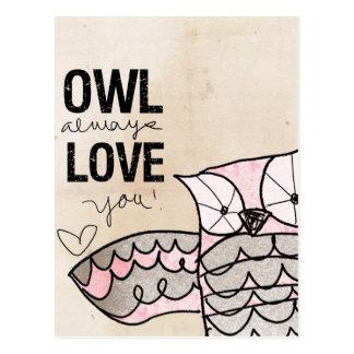 Owl Valentine | Owl Always Love You Postcard