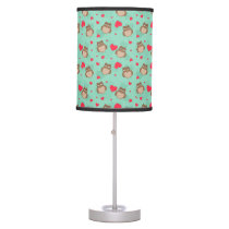 Owl Valentine's Day Desk Lamp
