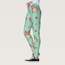 Owl Valentine's Day Leggings