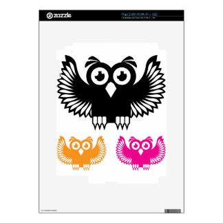 Owl vector decal for the iPad 2