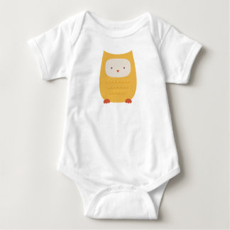 owl vector kawaii baby bodysuit