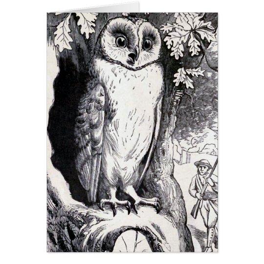 """""""Owl"""" Vintage Illustration Card"""