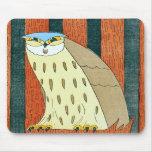 """""""Owl""""  Vintage Illustration Mousepad"""