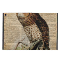 Owl Vintage Illustration Zoology Dictionary Art Case For iPad Air