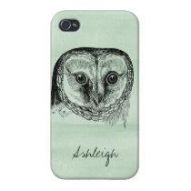 Owl Vintage iPhone 4/4S Case