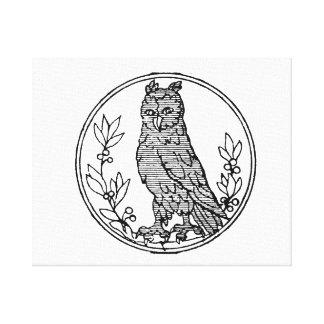 Owl vintage jagged drawing.png canvas print