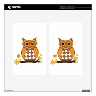 owl waiting for mom love skins for kindle fire